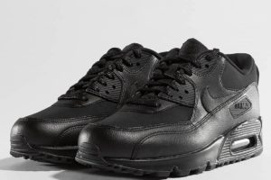nike air max 90 leather in damen schwarz schwarze sneaker damen
