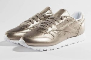 reebok classic leather melted metallic pearl in farben damen gold goldene sneaker damen
