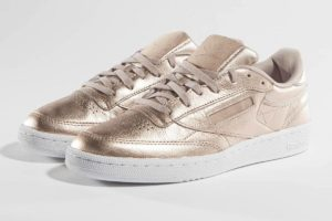 reebok club c 85 melted metallic pearl in damen rosa rosa sneaker damen