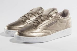 reebok club c 85 melted metallic pearl in farben damen gold goldene sneaker damen
