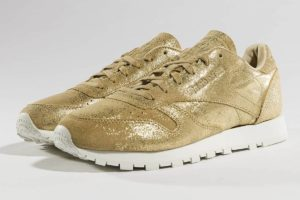 reebok classic gold goldene sneakers damen