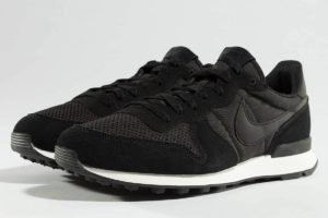 nike internationalist schwarz schwarze sneakers herren
