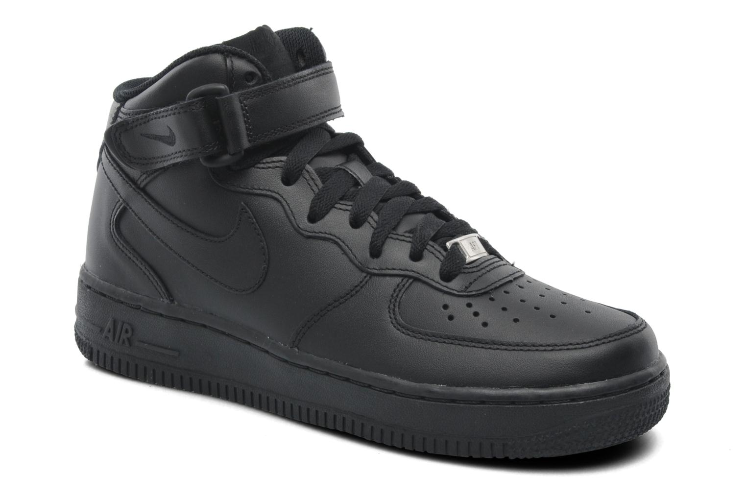 nike-air force 1-damen-schwarz-366731-001-schwarze-sneakers-damen