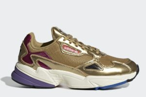 adidas falcon damen gold goldene sneakers damen