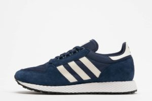 adidas forest grove blau blaue sneakers herren