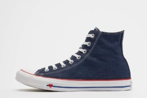converse chucks all star high blau blaue sneakers herren