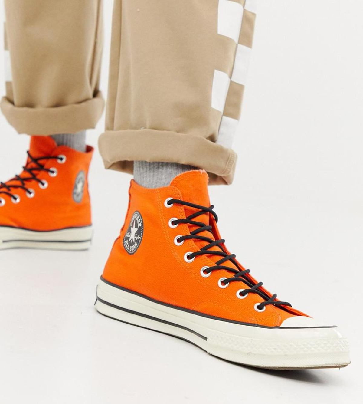 Converse Orange Chuck Taylor All Star 70 Waterproof Hi Trainers In Orange 162351c