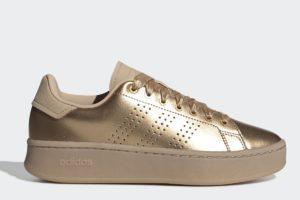 adidas advantage bold damen gold goldene sneakers damen