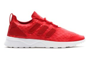 adidas zx flux rot rote sneakers damen