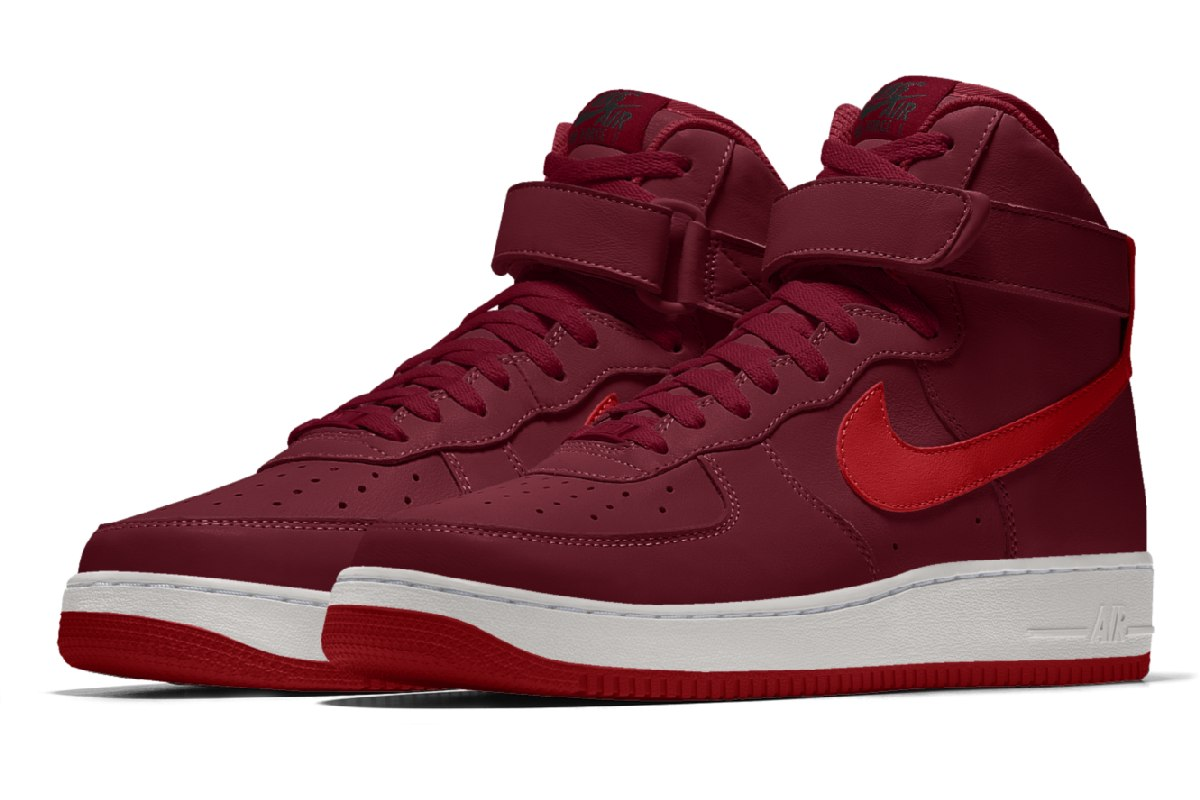 Nike Air Force 1 Dames Bordeaux Aq3777 992 Bordeaux Sneakers Dames
