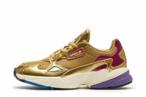 adidas falcon gold goldene sneakers damen
