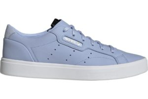adidas-sleek-damen-blau-db3259-blaue-sneaker-damen